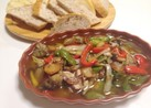 yin yang白身魚と野菜のアヒージョ