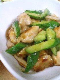 醤爆鶏丁(台湾風、鶏ときゅうりの炒め物)