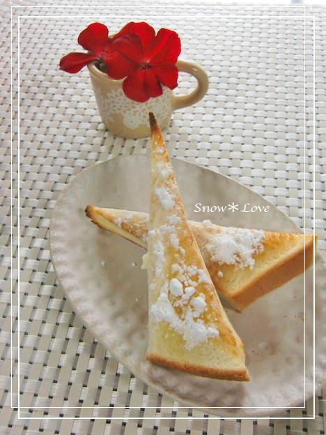 オリーブオイルと粉砂糖の☆トースト☆