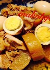 大根と鶏肉、卵の甘酢煮