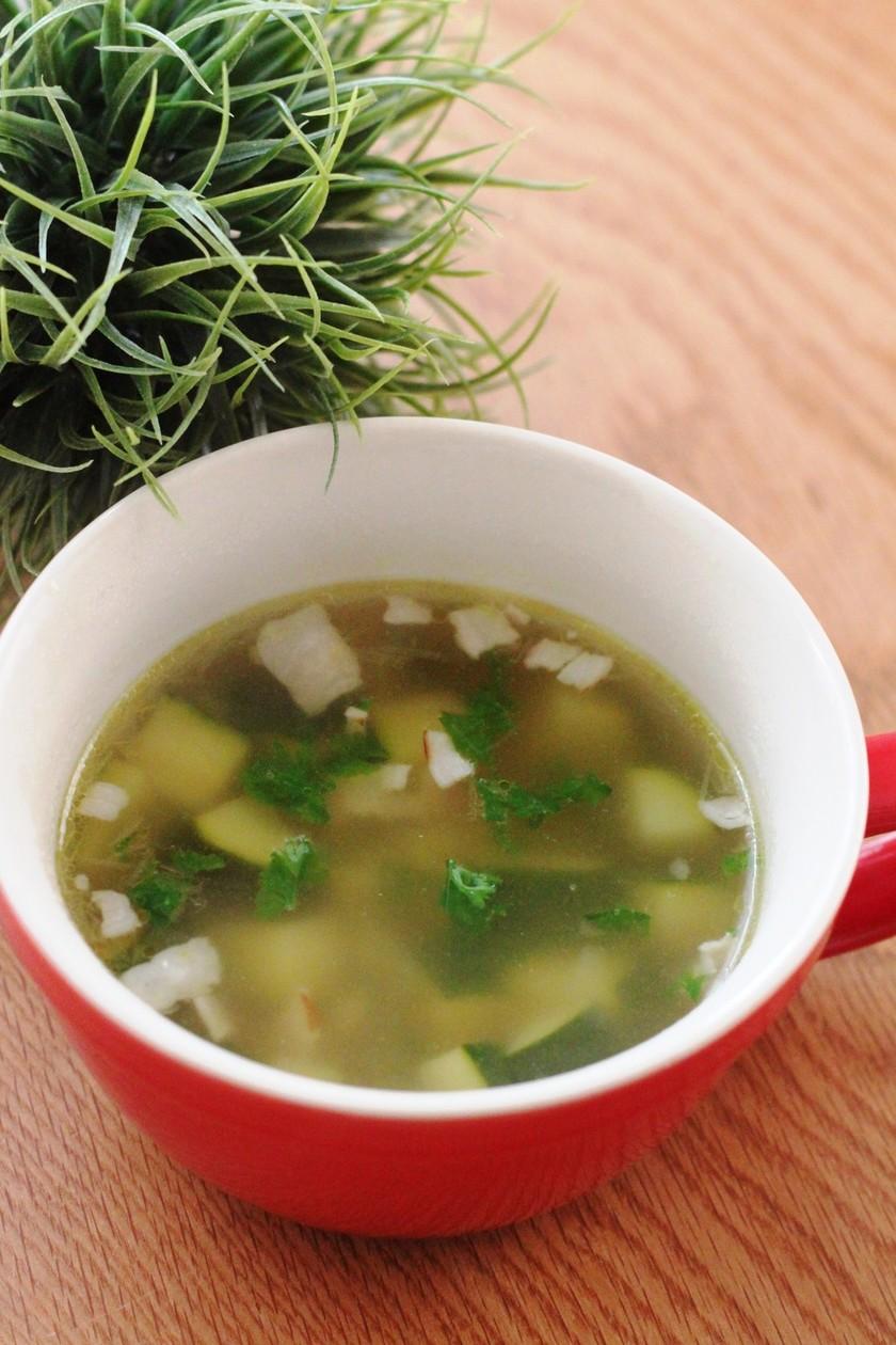 ズッキーニと玉葱とベーコンの夏スープ
