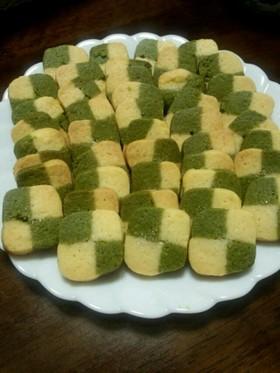 青汁で簡単健康的なアイスボックスクッキー