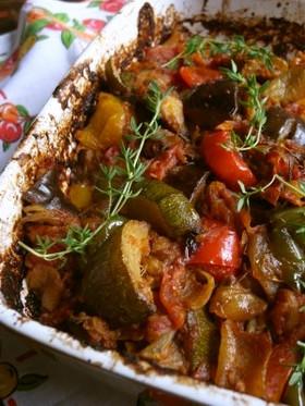 オーブンだけで作るニースのラタトゥイユ
