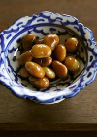 黒酢で酢大豆