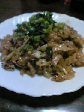 どて焼き風、白菜と豚肉の炒め煮