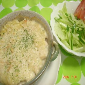 チーズマカロニグラタン