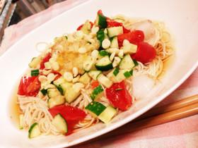塩レモンでサッパリ!簡単★夏野菜お素麺