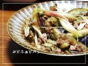 新生姜と茗荷が爽やか✿茄子のひき肉炒めの写真