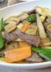 牛肉といろいろ野菜の焼肉のタレ炒め
