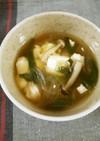 豆腐とニラの簡単ピリ辛☆豆板醤スープ
