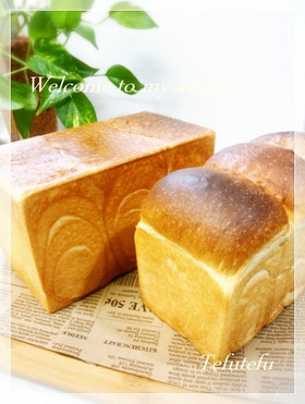 山型食パン&角食パン(生地作りはHBで)