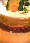 抹茶でマーブル!レアチーズケーキ☆