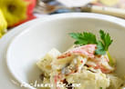 オリーブマヨのカニポテサラダ