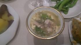 中華風白身魚のトローリ卵とじスープ