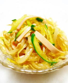 もやし・きゅうり・ハム・春雨の中華サラダ