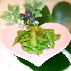 枝豆の香味炒め
