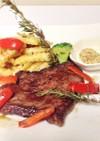 硬い牛肉を柔らかくして焼くビーフステーキ
