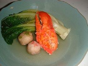 生麩とロブツメの炊き合わせ。