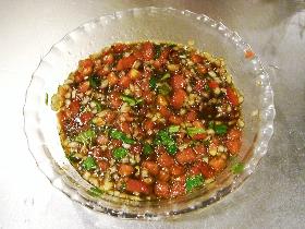 トマトとバルサミコのドレッシング