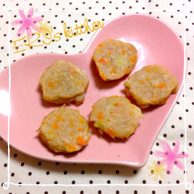 離乳食♡お刺身とお豆腐でお魚ハンバーグ