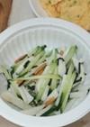 お茶漬け海苔で簡単♪胡瓜と山芋の和え物
