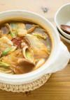 【美容】白菜と笹かまのスンドゥブチゲ風鍋