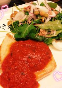トマトソースで♪カジキのチーズソテー