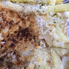 ジャガイモと青のりのパン粉チーズ焼き