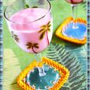 ★コストコ冷凍苺カラーなバナナスムージー