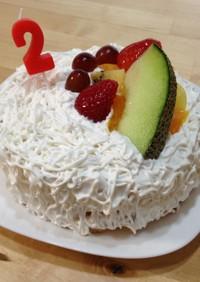☆2歳お誕生日ケーキ☆簡単&アレルギー用