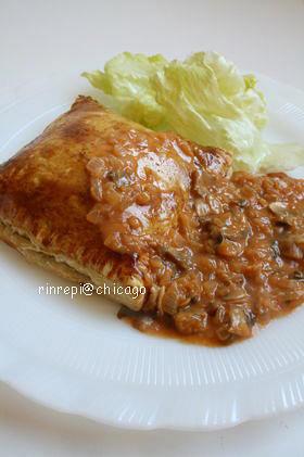 ミートパイ☆野菜マッシュルームソース