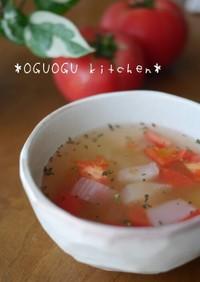 簡単!トマトと玉ねぎのコンソメスープ♡