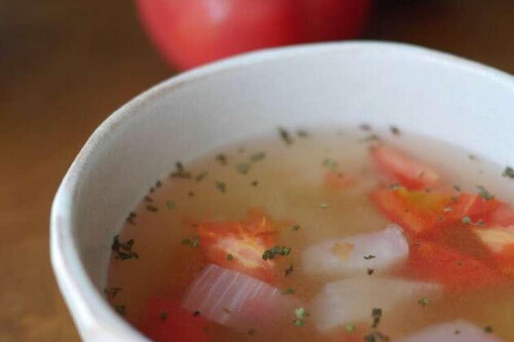 玉ねぎ スープ トマト