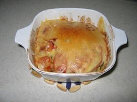 じゃが芋とトマトのマヨ重ね焼き