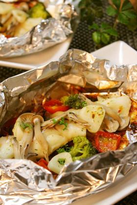 簡単おかず*鱈と野菜のホイル焼き
