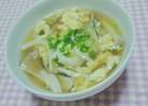 〖さらっと美味しい♪舞茸と卵のスープ〗