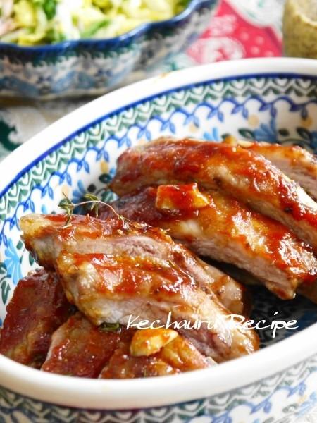 豚スペアリブの絶品バーベキュー