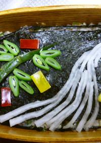 玄米混ぜ寿司の七夕飾り弁当