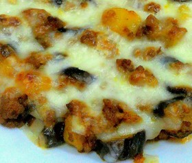 簡単手軽に♪挽き肉と茄子のチーズ焼き