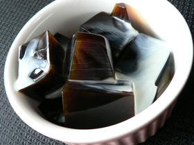コーヒー寒天ゼリー練乳がけ