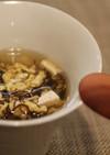 もずくと豆腐のかき玉スープ