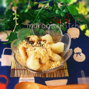材料2つ!ヘルシー♪豆腐のお団子デザート