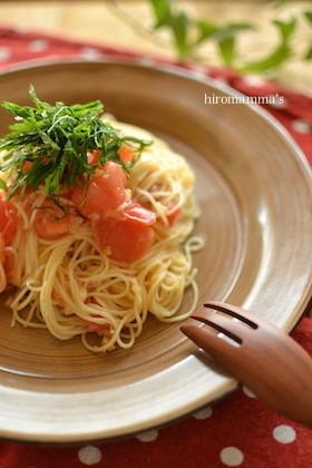 塩レモンとトマトの冷製カッペリーニ
