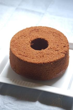 板チョコで☆チョコレートシフォンケーキ