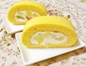 糖質制限!大豆粉でフルーツロールケーキ