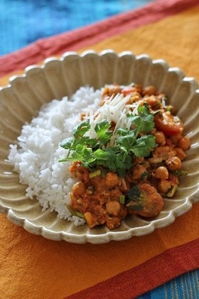 ひよこ豆とひき肉のカレー