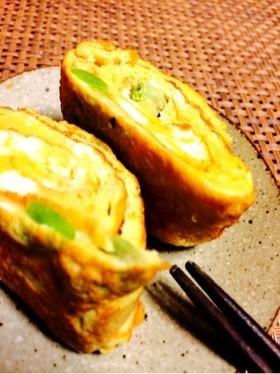 【10分】お弁当☆枝豆とマヨの和風卵焼き