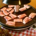 ザイグルでサムギョプサル バラ肉焼肉