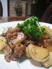 トロトロ豚とかぶの甘辛炒めの写真
