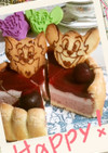 トムとジェリーのトマトチェリーケーキ